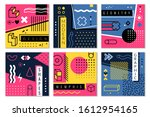 abstract geometric background.... | Shutterstock .eps vector #1612954165