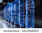 Data Center In Server Room With ...