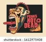 design punk not dead for t... | Shutterstock .eps vector #1612975408