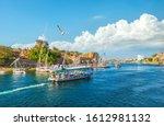 Touristic Boats On Nile River...
