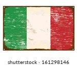 italian flag on rusty old... | Shutterstock .eps vector #161298146