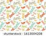ant seamless pattern. children...   Shutterstock .eps vector #1613004208