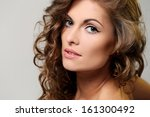 portrait of a beautiful... | Shutterstock . vector #161300492