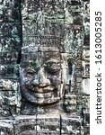 Small photo of Buddhism Stone bas relief Buddha