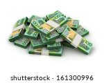 stack of australian dollar | Shutterstock . vector #161300996