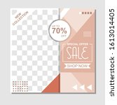sale template for promotion... | Shutterstock .eps vector #1613014405