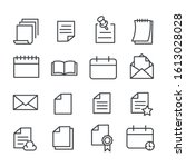 set of document or paper icon...   Shutterstock .eps vector #1613028028