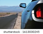 Rear of a Ford Mustang in Death Valley