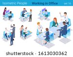 isometric business people at...   Shutterstock .eps vector #1613030362