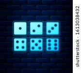 Glowing Neon Set Of Six Dices...