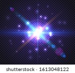 transparent star light special... | Shutterstock .eps vector #1613048122