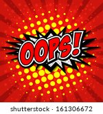 oops    commic speech bubbel ... | Shutterstock .eps vector #161306672