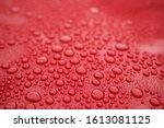 Closeup Red Car Paint Surface...