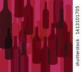 red wine bottles background... | Shutterstock .eps vector #1613101705