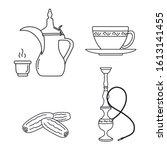 arabic vintage items like... | Shutterstock .eps vector #1613141455