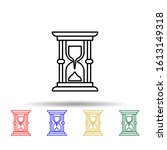hourglass  time multi color...