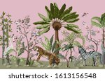 pattern in chinoiserie style... | Shutterstock .eps vector #1613156548