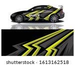 car decal wrap design vector | Shutterstock .eps vector #1613162518