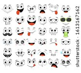 collection of emoticons with... | Shutterstock .eps vector #1613167162