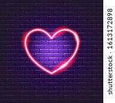 heart neon icon. valentine's... | Shutterstock .eps vector #1613172898