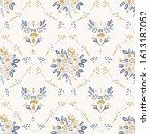 french shabby chic damask... | Shutterstock .eps vector #1613187052