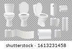 realistic toilet bowl. restroom ...   Shutterstock .eps vector #1613231458