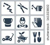 Vector Gardening Icons Set ...