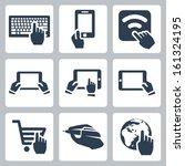 vector hands and technology... | Shutterstock .eps vector #161324195