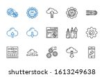 settings icons set. collection... | Shutterstock .eps vector #1613249638