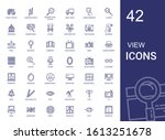 view icons set. collection of... | Shutterstock .eps vector #1613251678