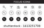 focus icons set. collection of... | Shutterstock .eps vector #1613251708