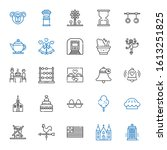 traditional icons set.... | Shutterstock .eps vector #1613251825