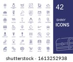 shiny icons set. collection of... | Shutterstock .eps vector #1613252938