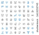 wildlife icons set. collection... | Shutterstock .eps vector #1613253745