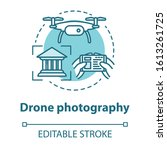drone photography concept icon. ... | Shutterstock .eps vector #1613261725