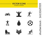 sports icons set with soccer...