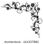 black flowers  abstract and... | Shutterstock .eps vector #161327882