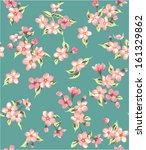 seamless vintage flower branch... | Shutterstock .eps vector #161329862