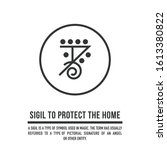 sigil to protect the home. a...   Shutterstock .eps vector #1613380822