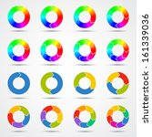 circle arrows set for your info ... | Shutterstock .eps vector #161339036