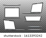 great collection mock ups of...   Shutterstock .eps vector #1613393242