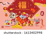 vintage chinese new year poster ...   Shutterstock .eps vector #1613402998