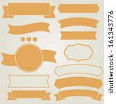 set of retro ribbons  vector... | Shutterstock .eps vector #161343776