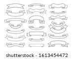 ribbon divider design.vintage... | Shutterstock .eps vector #1613454472