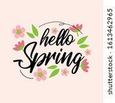 hello spring illustration...   Shutterstock .eps vector #1613462965