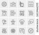 business icon set. 16 universal ...   Shutterstock .eps vector #1613466295
