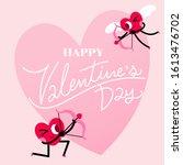 cute heart cartoon character...   Shutterstock .eps vector #1613476702