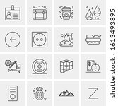 16 business universal icons... | Shutterstock .eps vector #1613493895