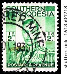Small photo of MOSCOW, RUSSIA - NOVEMBER 4, 2019: Postage stamp printed in Southern Rhodesia shows King George VI (1895-1952), serie, circa 1937