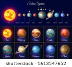 colorful solar system with... | Shutterstock .eps vector #1613547652